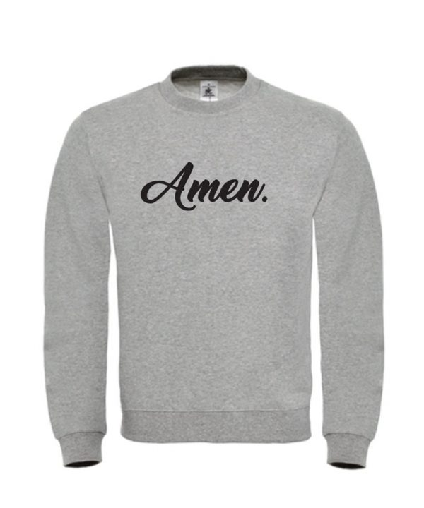 soBAD.-Amen-sweater grijs