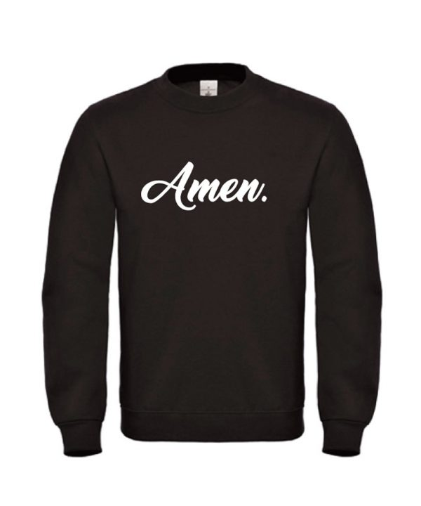 soBAD.-Amen-sweater zwart