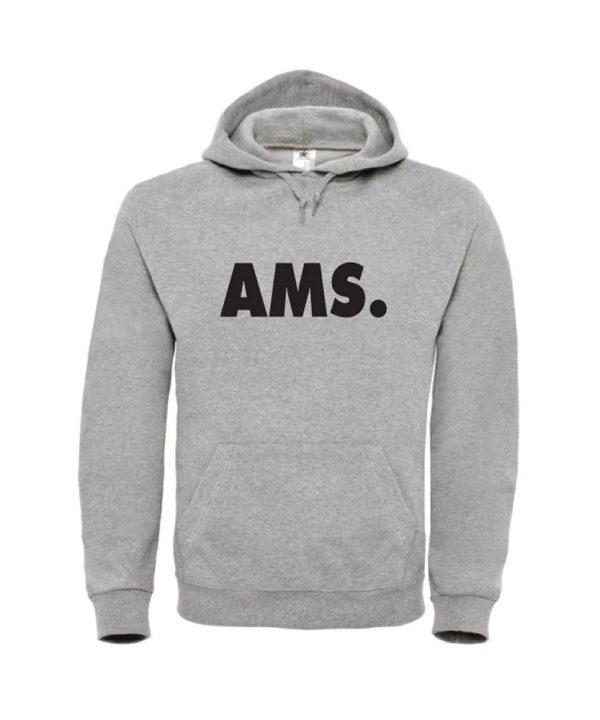 soBAD.-Man- AMS. Amsterdam - hoodie grijs