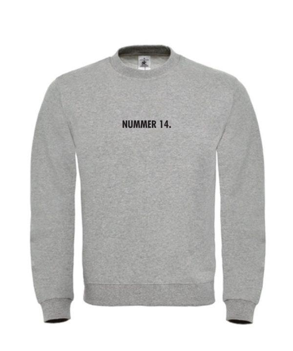 soBAD.-Nummer 14-grijs sweater