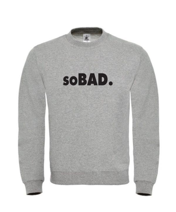 soBAD.-sweater grijs
