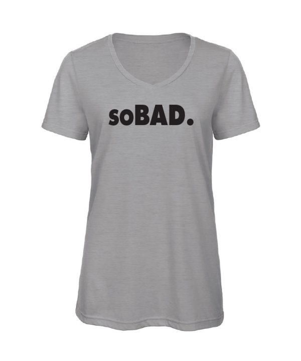 soBAD.-V-shirt grijs