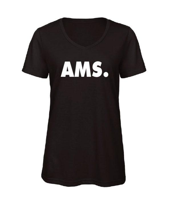 soBAD.-AMS- Amsterdam - V-shirt zwart
