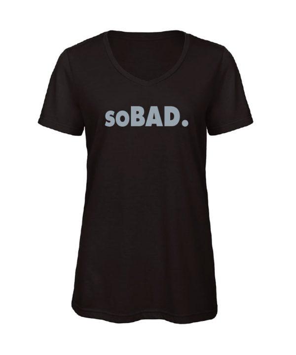 soBAD.-V-shirt zwart