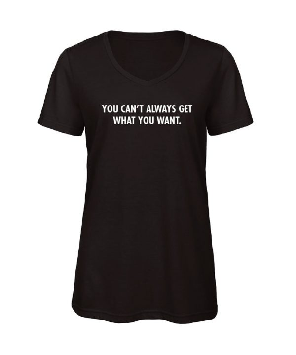 soBAD.-You can't always get what you want..-V-shirt zwart
