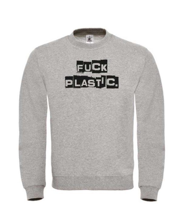 SB-Sweat-grijs-Fuck plastic