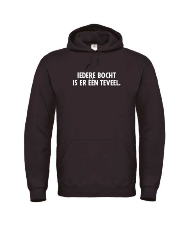 soBAD. hoodie zwart - Wintersport Iedere bocht is er een teveel
