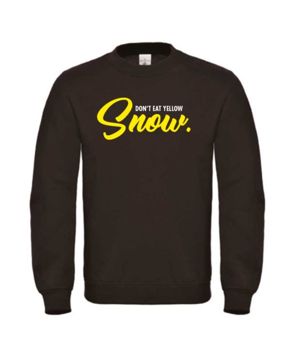 soBAD. Sweater zwart - Don't eat the yellow snow