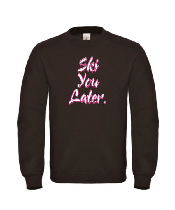 soBAD. sweater zwart - Ski you later