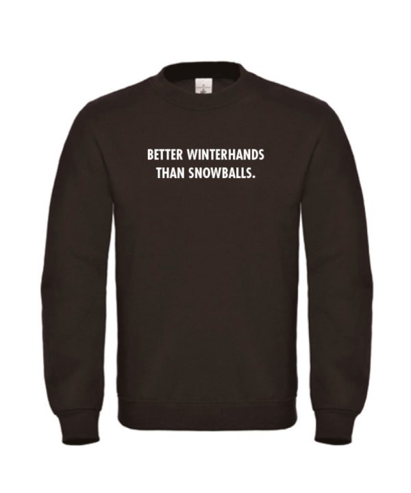 soBAD. sweater zwart - Better winterhands than snowballs