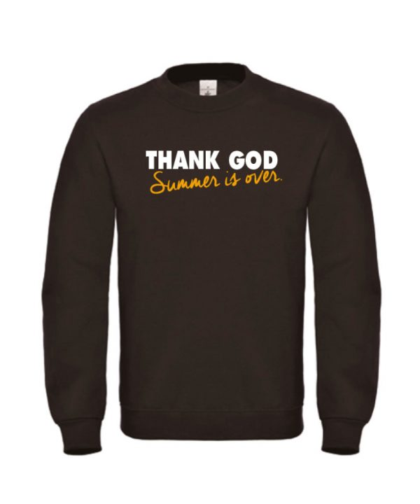 soBAD. sweater zwart - Thank god summer is over
