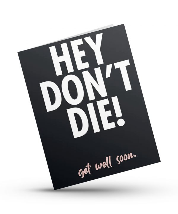 Beterschap! - Hey don't die - soBAD.