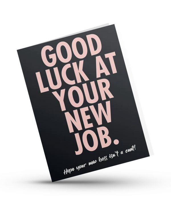 Nieuwe baan! - Good luck at your new job - soBAD.