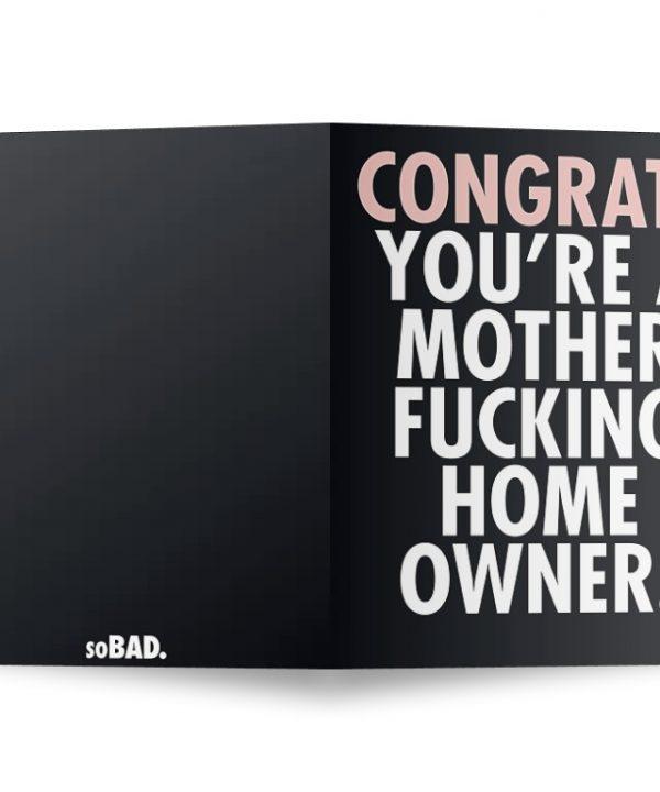 Nieuw huis - Congrats - soBAD.