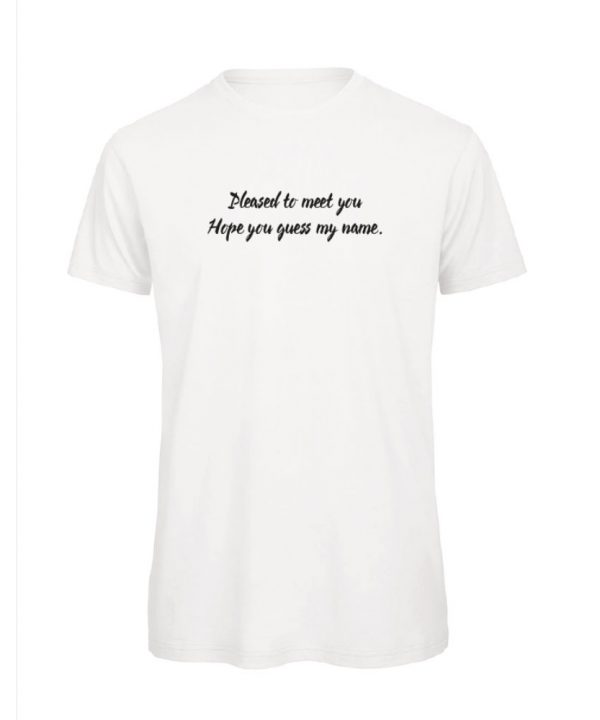 T-shirt - Pleased to meet you. - sobad.